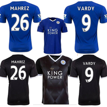 New Leicester City Jersey 15 16 VARDY home blue away KRAMARIC OKAZAKI ULLOA thai quality Leicester City soccer Jersey 2016 shirt(China (Mainland))