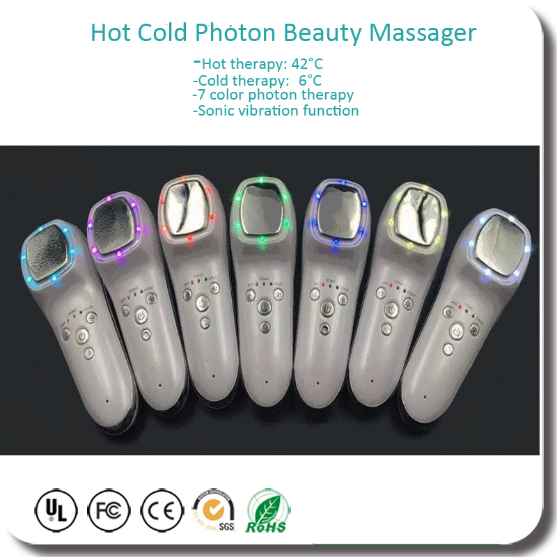 Фотография Free Shipping Skin Rejuvenation Vibration Ultrasonic Photon Hot Cold Therapy Spot Pigment Removal Beauty Instrument