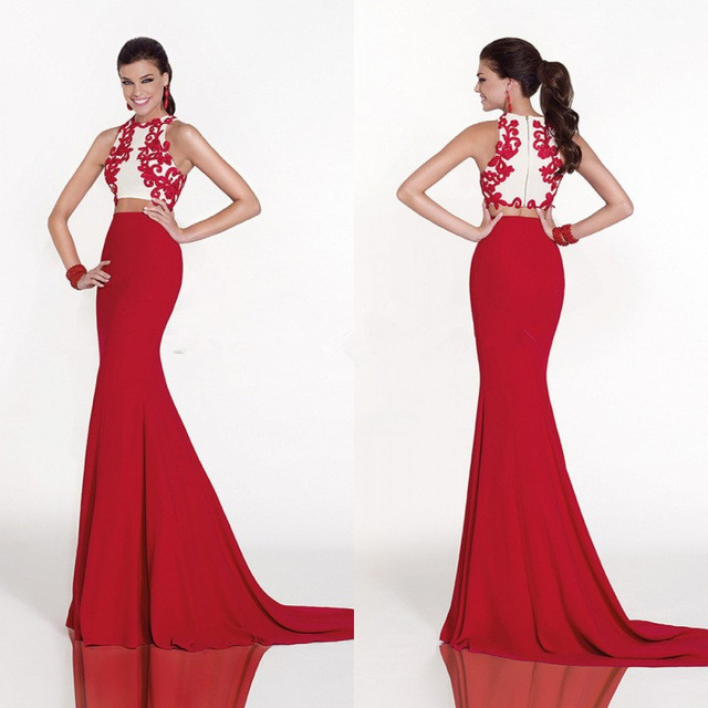 Vestidos de fiesta 2015 en color rojo