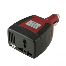 Car Inverter Charger Adapter 112V DC to 110V AC 50W with 5V USB Port  (China (Mainland))