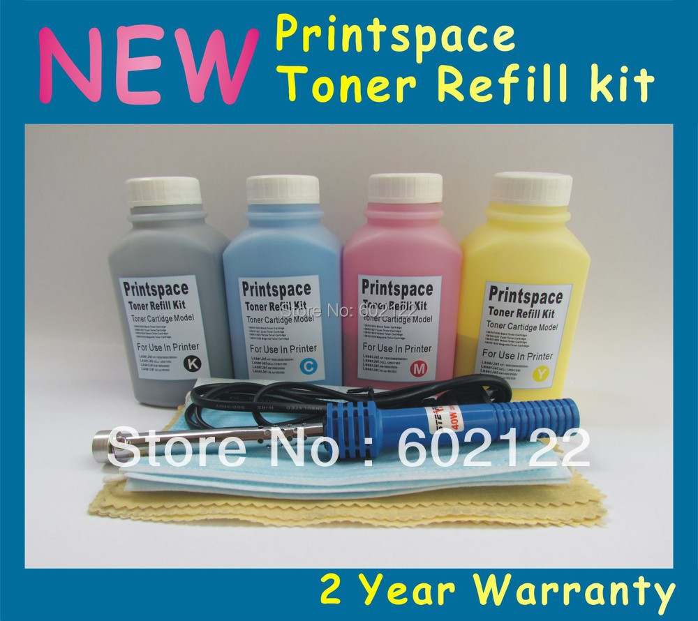 4x NEW Toner Refill Kit + Chips For Brother TN115 TN110 TN155 TN135 HL-4040 MFC-9840/9440 DCP-9045CDN KCMY Free shipping<br>
