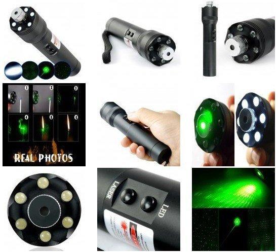 Ultra Power 532nm 200mW Green Laser Pointer + LED Torch Light flashlight(China (Mainland))