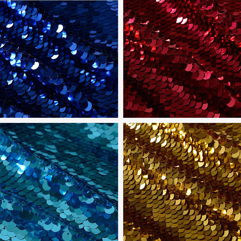 Wholesale(1 meters/lot) Synthetic Sequins Fabric Width 130m For Concert Attire Costume Swedding Scene Layout Stage Cloth DIY(China (Mainland))