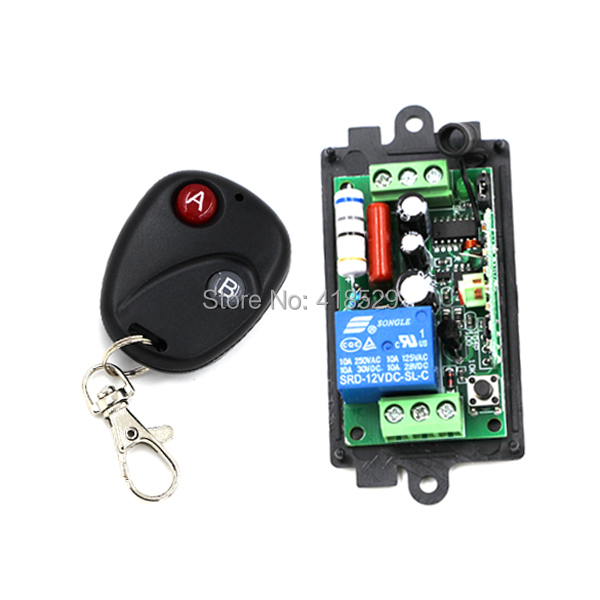 wireless switch AC 110V 220v 1ch remote control,Switch System 10A RF 433MHZ 315MHZ for LED light Lamp SKU: 5045(China (Mainland))
