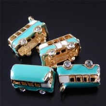 Buy Wholesale 15pcs/pack Gold Enamel Blue Alloy Charms Necklace pendants Jewelry Findings fine jewelry making Women Gifts 50963 for $5.70 in AliExpress store