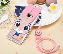 Samsung Galaxy 2015 A3 A5 A7/2016 A7 C5 3D Cute Cartoon Soft TPU Rubber ZOOTOPIA Rabbit Judy Back Case Capa - May Day Store store