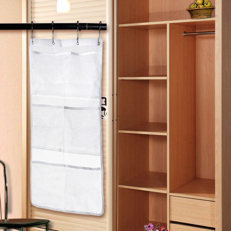6 Pocket Bathroom Tub Shower Hanging Mesh Organizer Caddy Storage Bag Hanging Holder Storage Bags Rack organizador E5M1(China (Mainland))