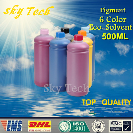500ML*6 color  Eco Solvent Ink ,  suit for  Roland and mutoh printer   , Pigment Eco Solvent Ink , out door advertising Ink<br><br>Aliexpress
