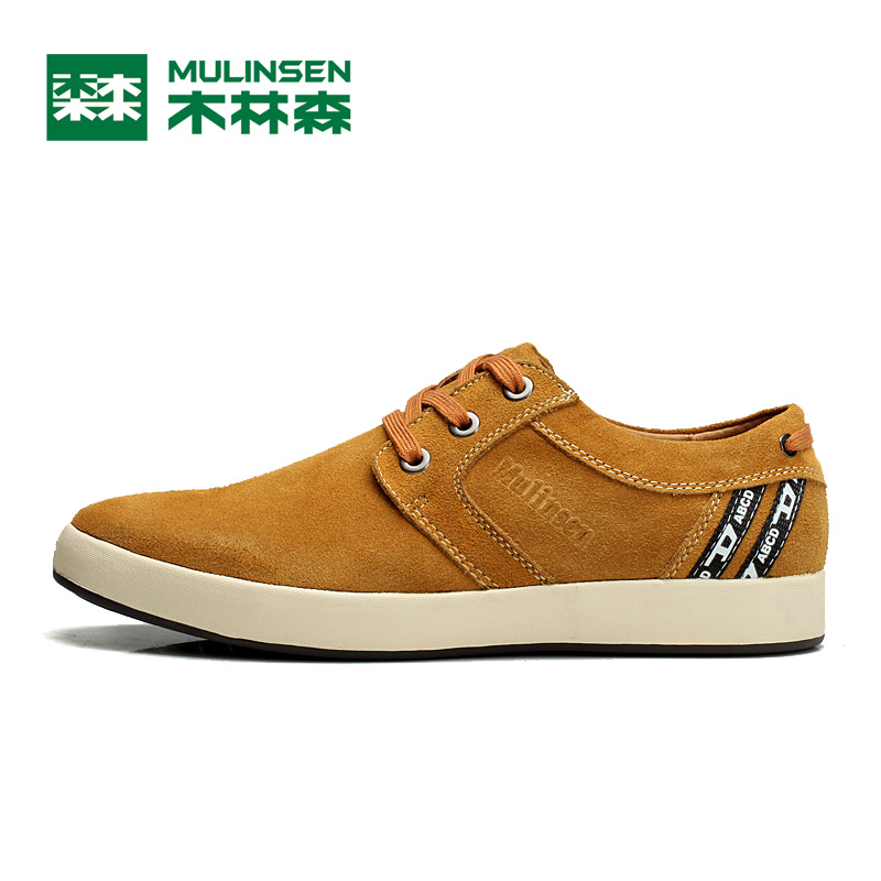 Mulinsen New Autumn Fashion Canvas Reverse Plush Shoes,Tide Dunk Low Lace-up Casual Khaki Blue Brown Male Shoes,Size 38-44(China (Mainland))