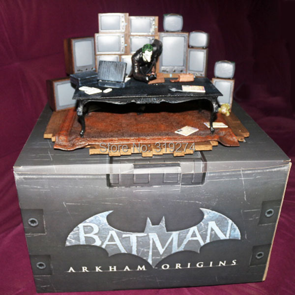 Wholesale/Retail Free Shipping DC Comics Batman Arkham Origins The Joker PVC Action Figure Collection New in Box(China (Mainland))