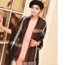 2015 Hot Fashion Burb Scarf Plaid British Style Cotton Tartan Channel Scarf Echarpes Womens Shawls Pashimina Bufandas Mujer Wrap(China (Mainland))