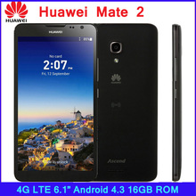 "ZK3 Huawei Ascend Mate 2 HiSilicon 1.6GHz Quad Core 6.1"" Android 4.3 Cell Phone RAM 2GB+ROM 16GB WCDMA 13MP 1280×720 4050mAh"