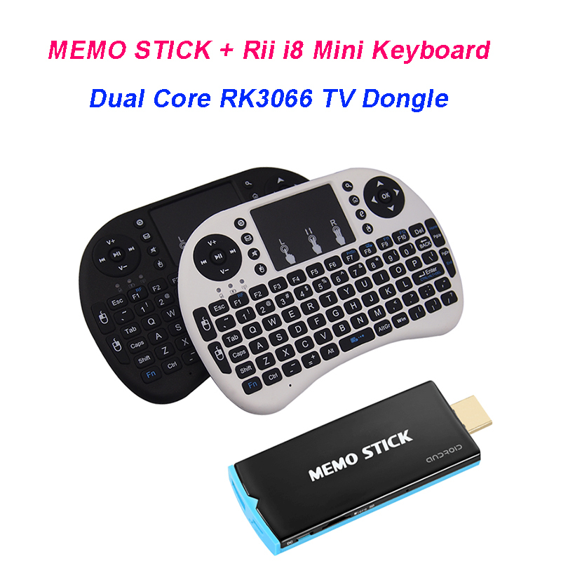Memostick RK3066 Quad Core Android 4.4.2 TV Box Mini PC +Rii mini i8 Keyboard Russian English Air Mouse(China (Mainland))