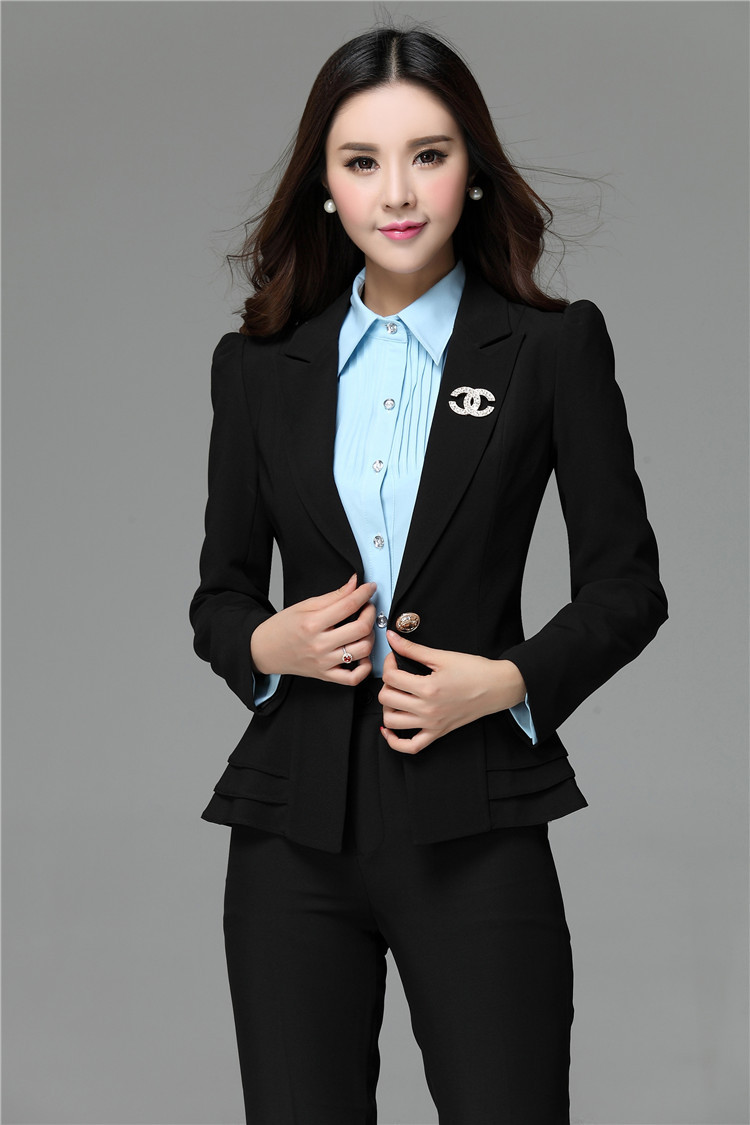 2018 wholesale women formal work wear suits blazer and pants