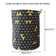 אמנות בד מתקפל גיאומטריה בגדים מלוכלכים צעצועי דלי אחסון בגדים מלוכלכים כביסה סל עבור ביתי אחסון סל(China)