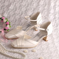 Wedopus Custom Handmade Wedding Women Sandals Square Heels Shoes Plus Size