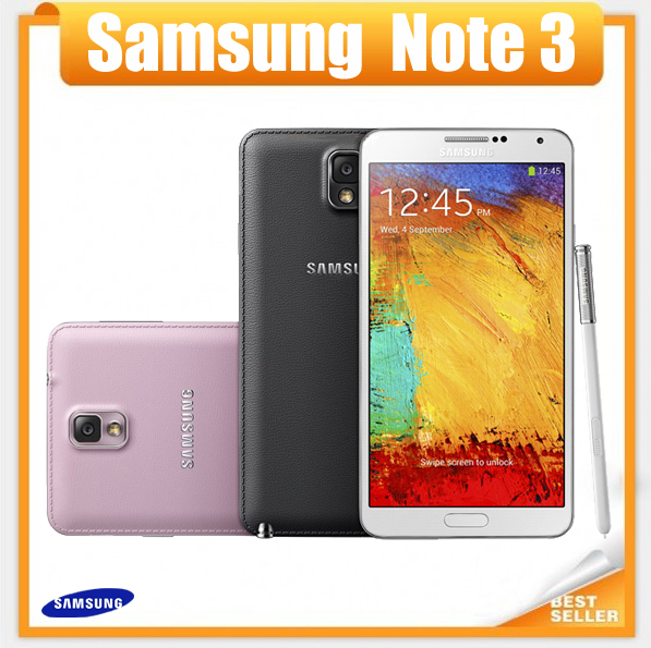 "Samsung Galaxy note 3 mobile phone ROM 16G Android 4.2 Quad Core 3G RAM 13MP Camera 5.7""Screen Refurbished Phone Free shipping(China (Mainland))"