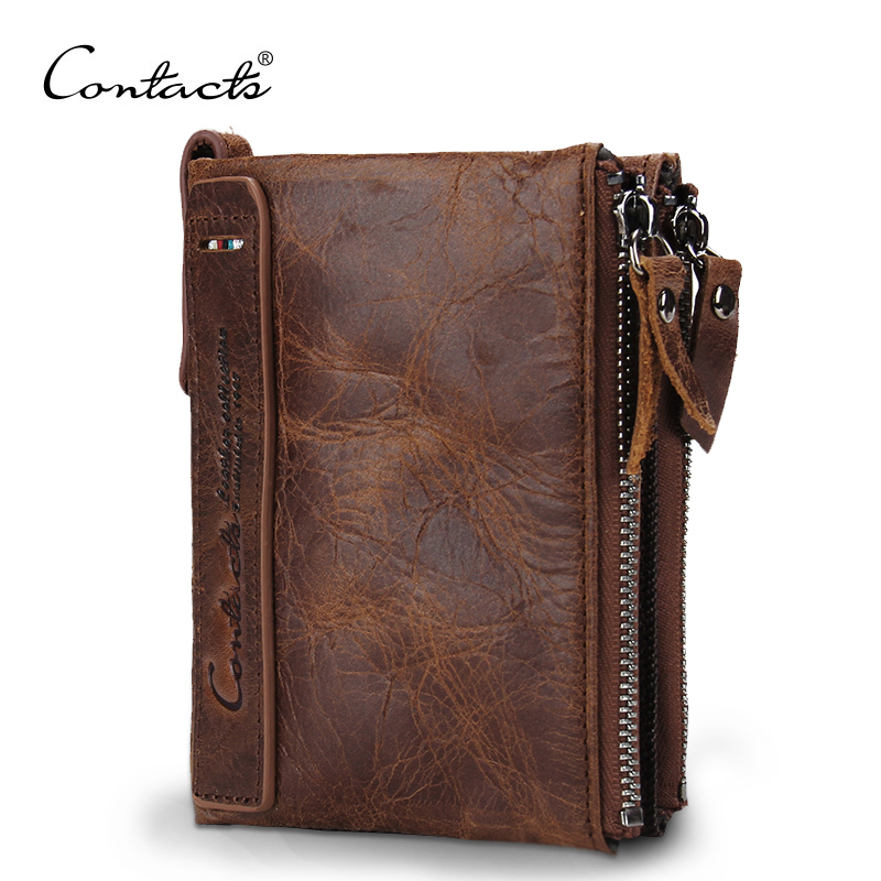 HOT!!! Genuine Crazy Horse Cowhide Leather Men Wallet Short Coin Purse Small Vintage Wallet Brand High Quality Vintage Designer(China (Mainland))