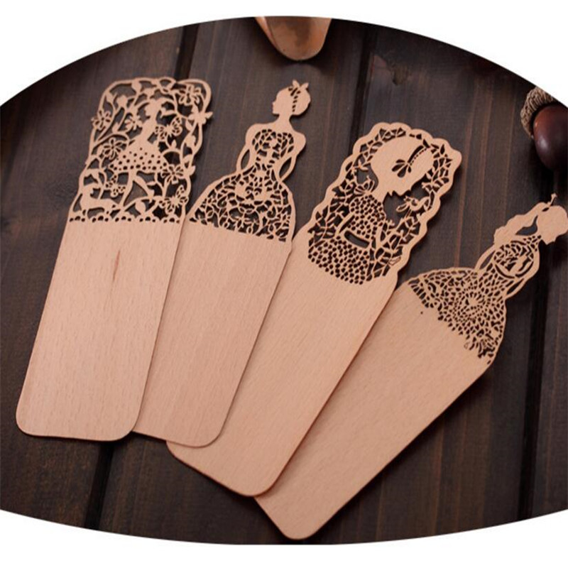 2PCS Ultrathin Antique Hallow Out Vintage Book marks Creative Gifts Bookmarks Wooden Gifts(China (Mainland))