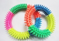 10Pcs/Lot Free Shipping Colorful Pet Molar Toys Rubber Dog Chew Toys Dog Cleaning Teeth Ring