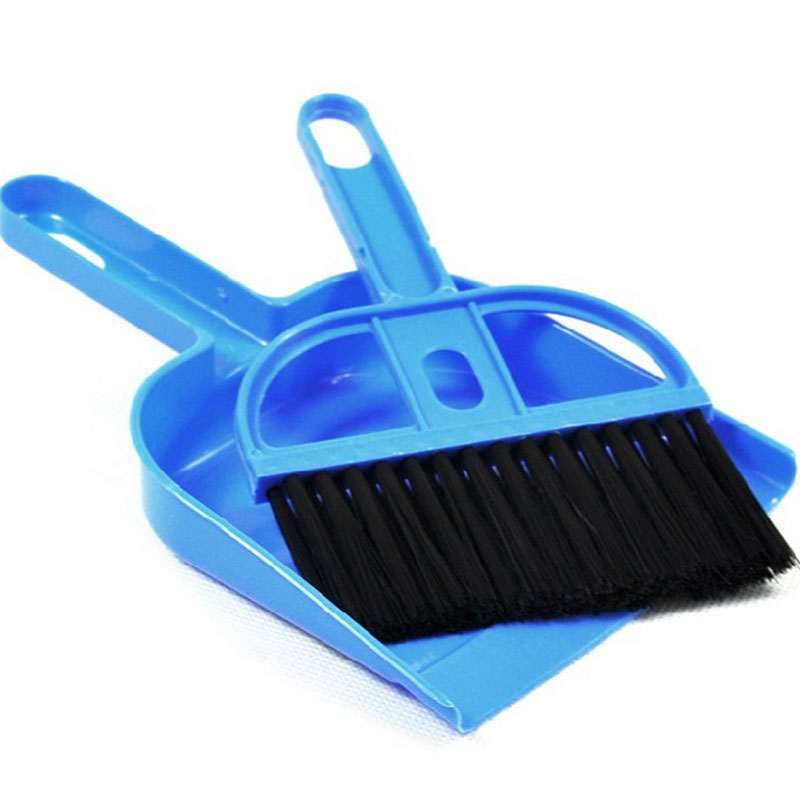 Mini Broom And Dustpan Set Computer Keyboard Cleaning Small Broom Dust Brush Car Office House Accessories Cleaner Window Brooms(China (Mainland))