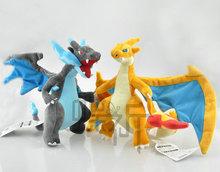25cm Pokemon go XY Mega-Evolution Charizard Plush Plush Doll Toy Stuffed Soft Toys Classic Anime Wholesale Free Shipping