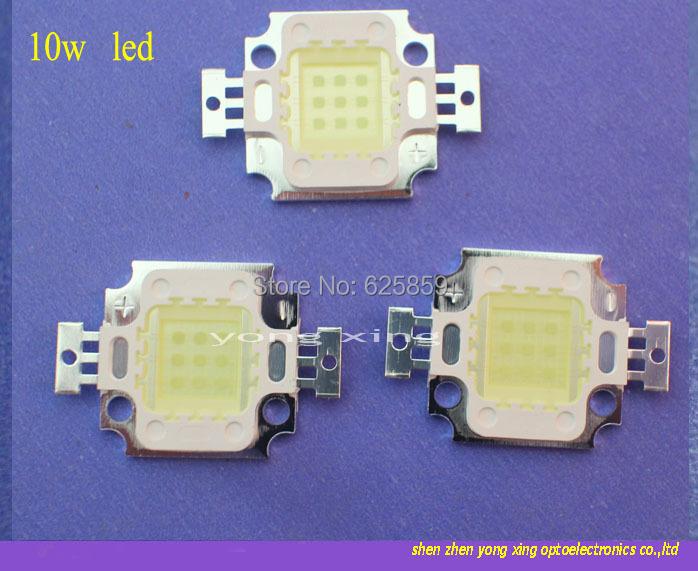free shipping 10pcs 10W LED Cold White 10000-15000k High Power 950LM Epileds LED For DIY(China (Mainland))