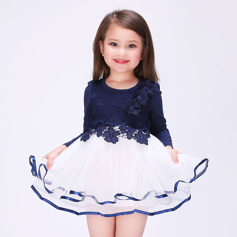 2016 New Arrival Flower Girls Dress Summer Princess Wedding Party Kids Costume Baby Girls Clothes High Quality Children Clothing(China (Mainland))