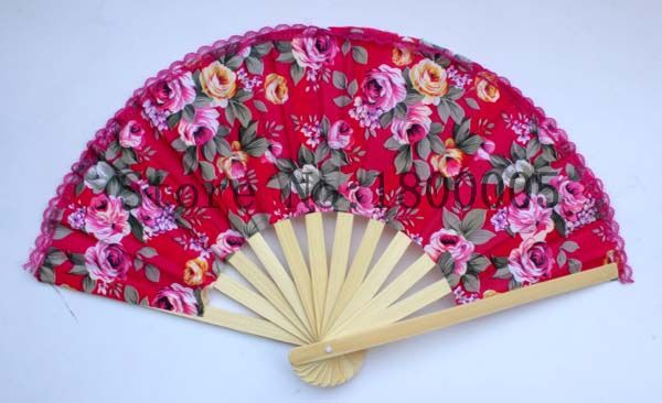 Wedding Wooden Fan Handmade 8'' Chinese Style Ladies Hand Fans Advertising and Promotional Folding Fan Bridal Accessories #C1280(China (Mainland))