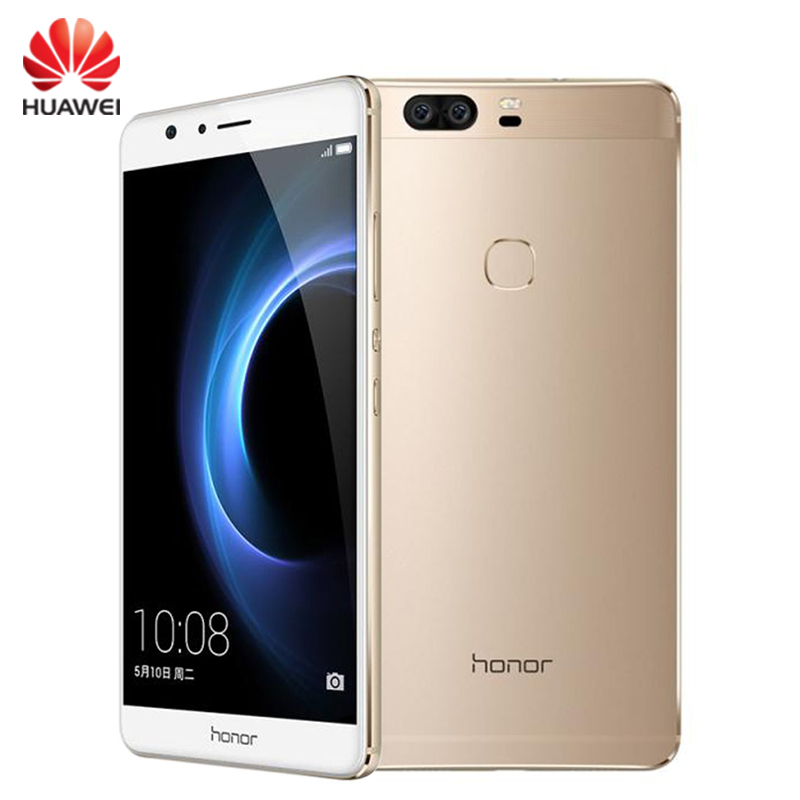 "Original Huawei Honor V8 Cell Phone 4GB RAM 32GB ROM Kirin 950 Octa Core 5.7"" Screen EMUI 4.1 OS 2*12MP Camera 4G LTE Smartphone(China (Mainland))"