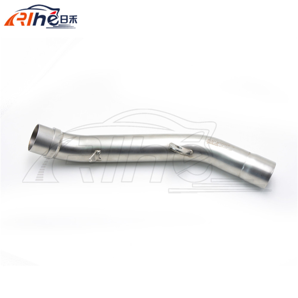 new motorcycle accessories stainless steel middle pipe motorbike middle of the exhaust pipe For Kawasaki z800 2013 2014 2015