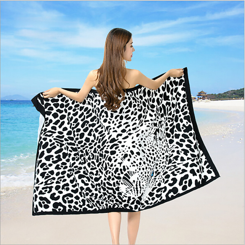New Pattern Microfiber Fabric big size Beach towel super absorbent high quality Adults towel Rectangle Women Beach towel Hot(China (Mainland))