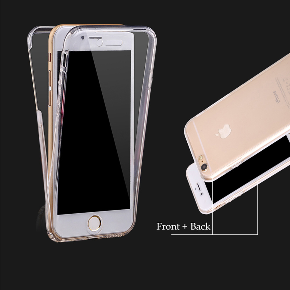 Fundas For Apple iPhone 5 5S SE Coque 360 Degree Full Body Coverage Protect Cell Phone Case Soft Front +Back Clear Silicone Skin