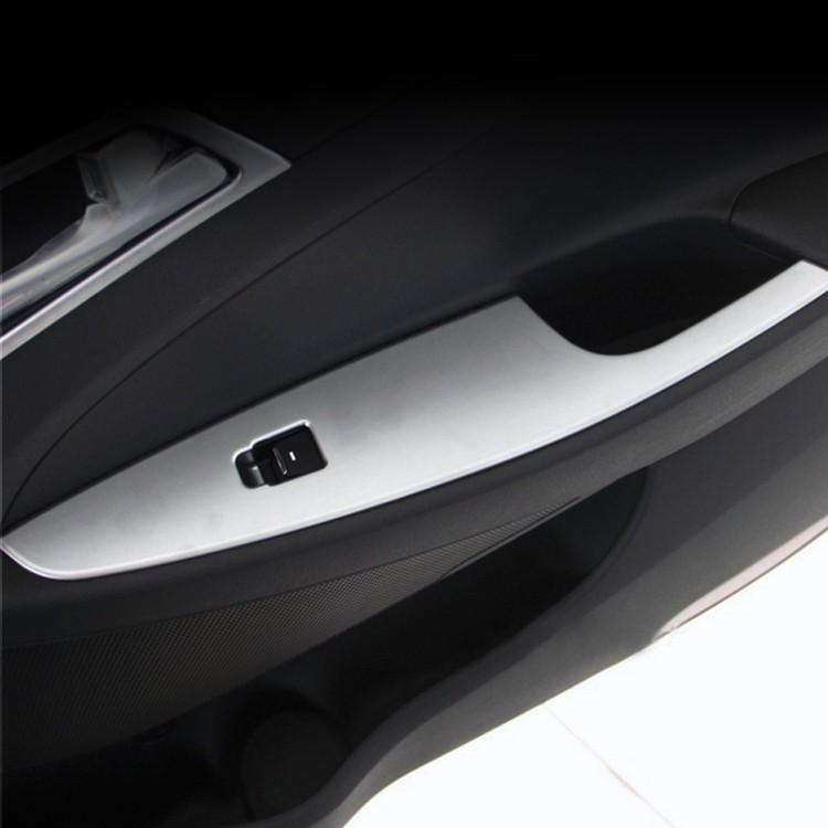 Купить 4 Шт./компл. ABS Chrome Интерьер Автомобиля Украшения Двери Окна Переключатель крышка Планки Для Hyundai Tucson LHD 3-й 2015 2016 Лучших качество