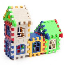 Baby Kids Children House Building Blocks Educational Learning Construction Developmental Toy Set Brain Game