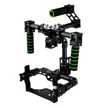 3 axis DSLR Brushless Gimbal Glass Fiber Handle Camera Mount DSLR 5D GH3 with motor for FPV Photography