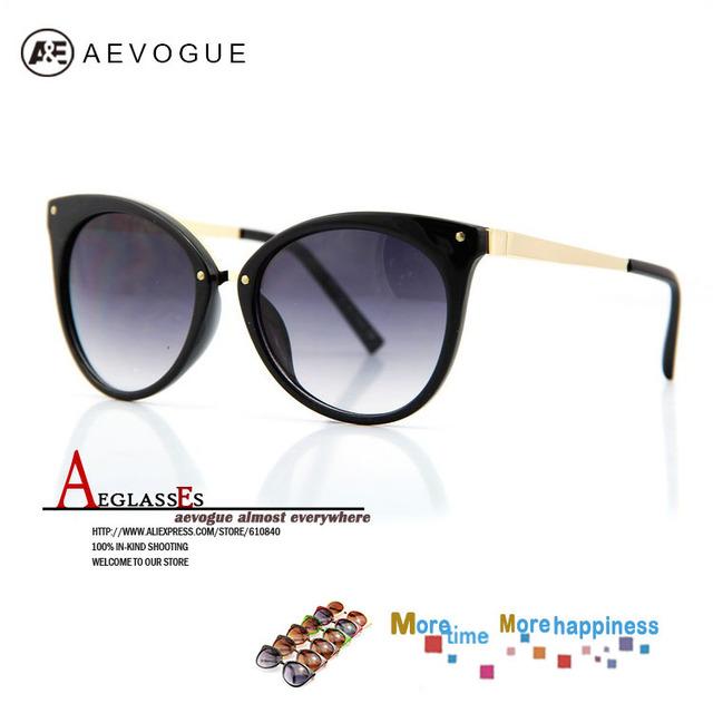 Aevogue кошачий глаз солнечные очки женщины бренда очки многоцветный волоконно-оптический очки gafas óculos de sol 20 шт. / lot AE0085