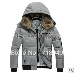 Free Shipping Large Size 2013 Winter New Men's Cotton-padded Down Jackets Wadded Fashion Overcoat,Outwear,Coat,Parka Thick M-3XL(China (Mainland))