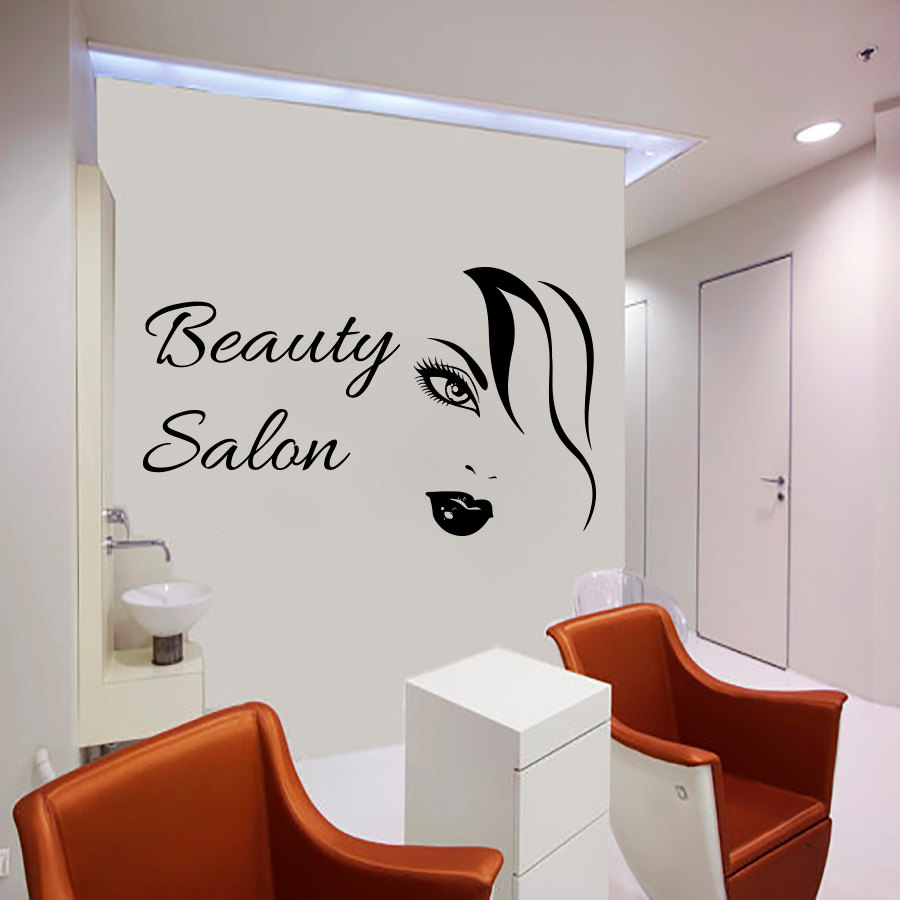 sexy woman wall decals beauty salon decorative sticker. Black Bedroom Furniture Sets. Home Design Ideas