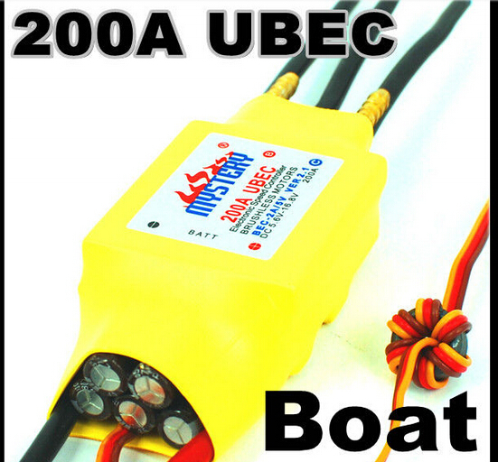 2-7S Lipo 200A ESC 5V/5A UBEC Brushless Speed Controller ESC For RC Boat UBEC200A/S With Water Cooler(China (Mainland))