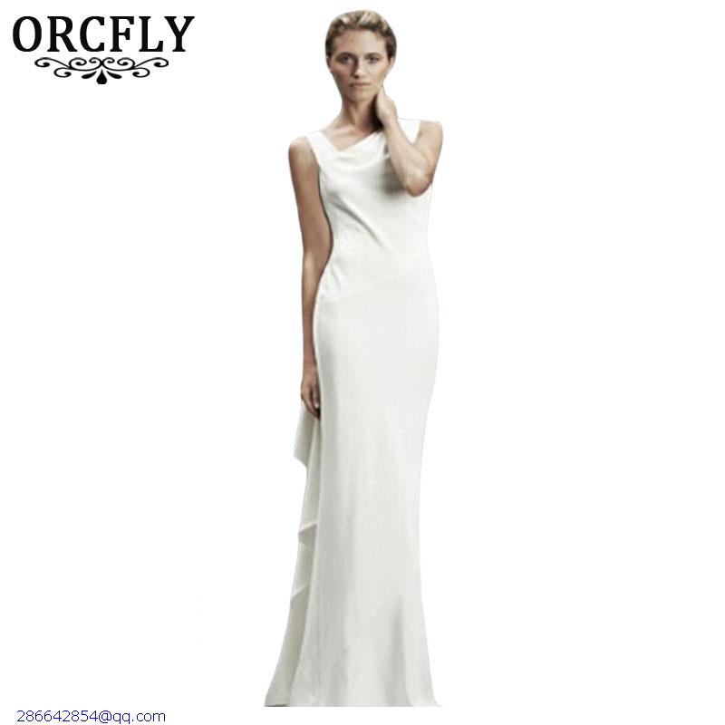 Orcfly bohemian white asymmetric design elegant women long for Summer dresses for wedding party