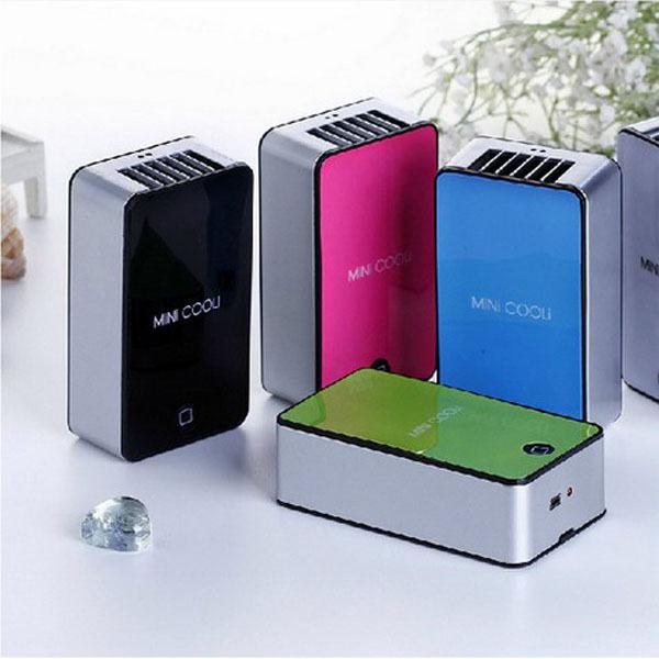 Mini Portable HandHeld Table Air Conditioner Cooler Cooling Bladeless Fan USB Rechargeable Battery Ar Condicionado Ventilador(China (Mainland))