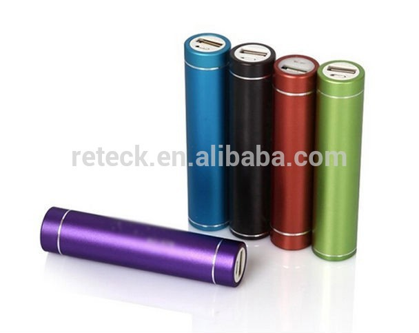 free shipping cylinder shape 2600mah Portable Mobile Power Bank 5V 1A USB Battery Charger 18650 power