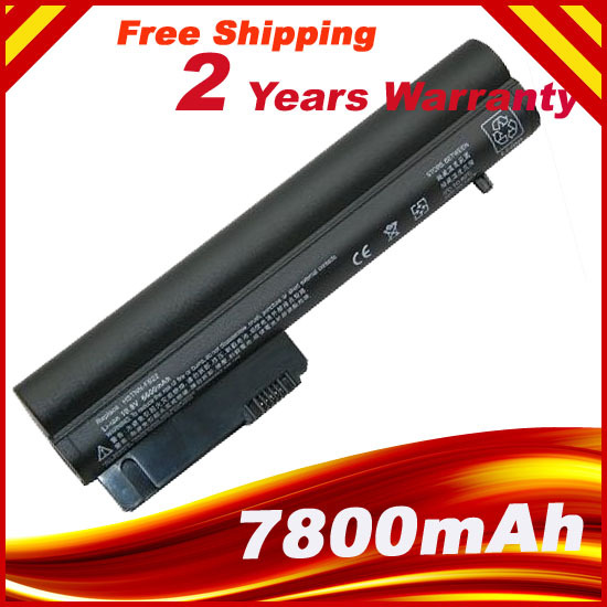 7800mAh Laptop Battery For HP 2533t Mobile Thin Client EliteBook 2540p 2530p For COMPAQ 2400 nc2400 nc2410 2510p KU529AA RW556AA(China (Mainland))