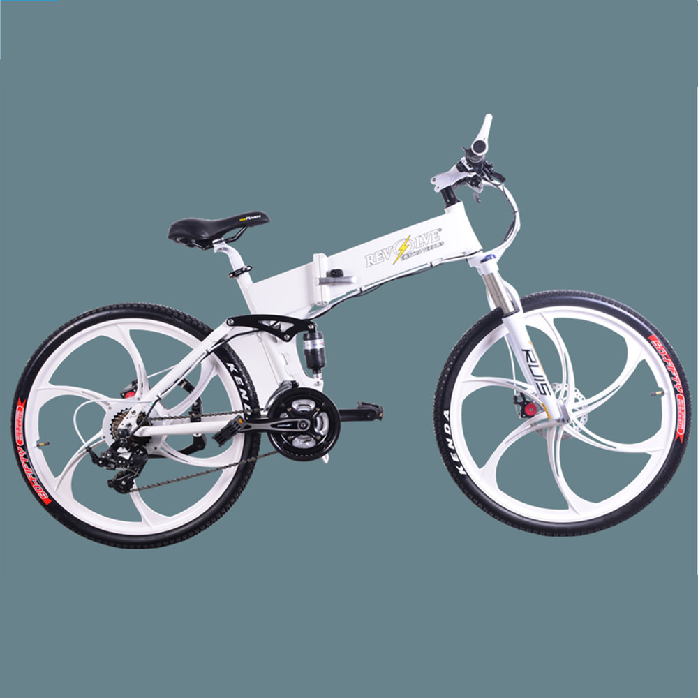 China Folding Electric Bicycle 36v Lithium Battery 26 Inch Aluminum Alloy Frame Folding Damping Brushless Mountain