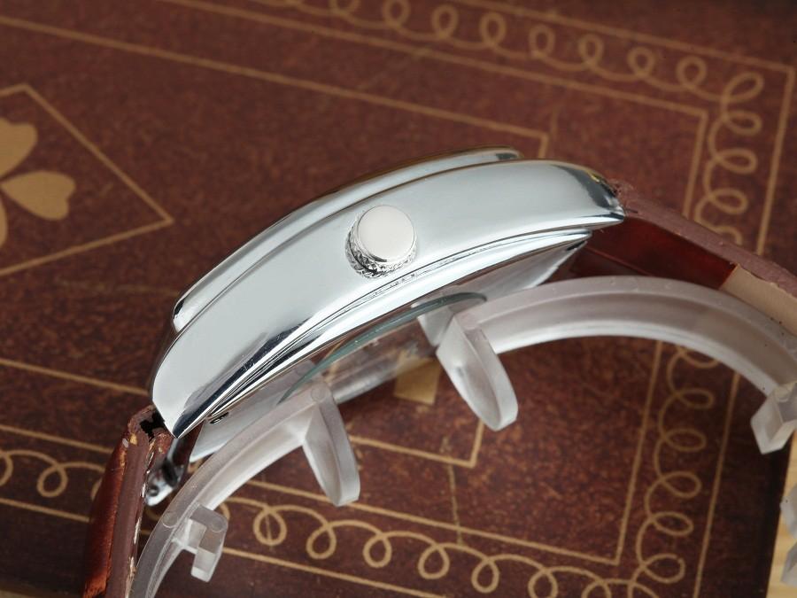 GOER марка Fashion square часы Кожа мужчины Автоматическая механическая водонепроницаемые Световой Скелет мужчины Наручные часы