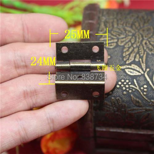 50pcs 25*24 MM metal bronze antique cabinet door hinge(China (Mainland))