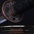 Katana vintage home decor Damascus High Carbon Carved Chinese dragon tsuba martial arts utility knife