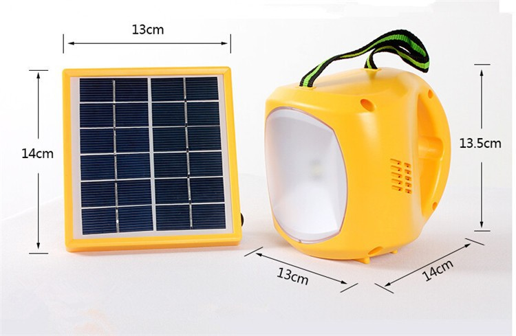 Experience Manufactured Emergency Solar Lantern Hang Rechargeable Solar Led Camping light USB Charger Fm Radio free shipping(China (Mainland))