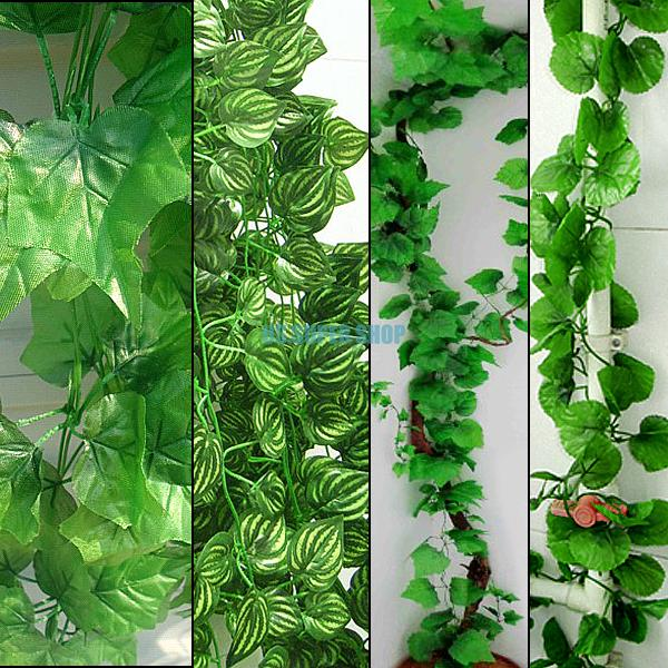Faux Artificial Ivy Leaves Leaf Vine Green Foliage Plant For Home Garden Decoration ES1795(China (Mainland))